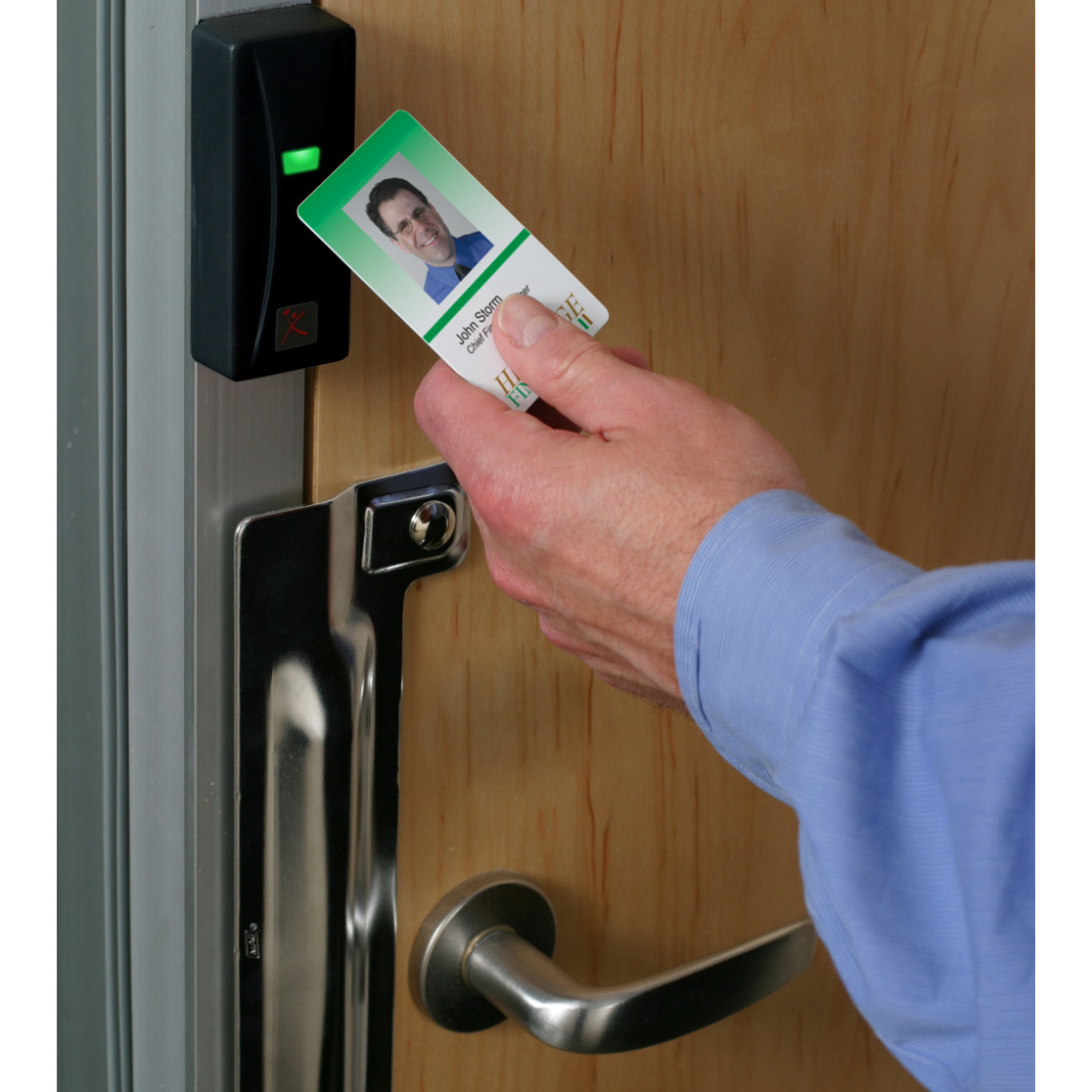 Security Access Door : Communication company life safety security